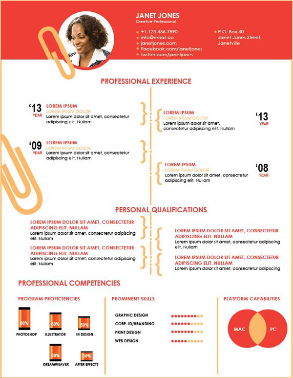 simple illustrator resume template  free download   u2013 gemgfx