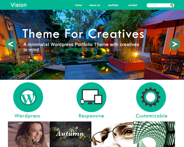 A preview of our very first WordPress theme.