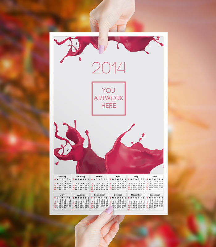 GemGfx 2014 Calendar Mockup FREE Download