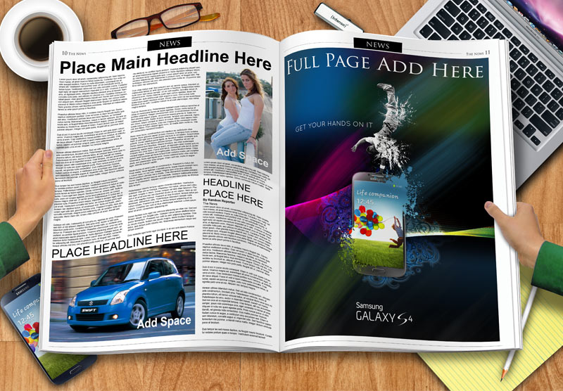 GemGfx Newspaper Spread Mockup (Free Download) – GemGfx